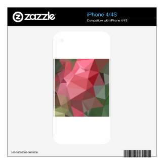 Congo Pink Abstract Low Polygon Background Skins For The iPhone 4