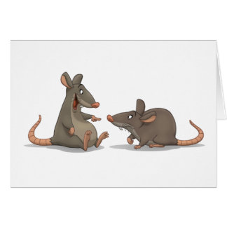 """Congo Rats!"" Card"