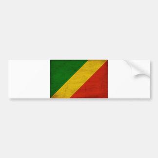 Congo Republic Flag Bumper Sticker