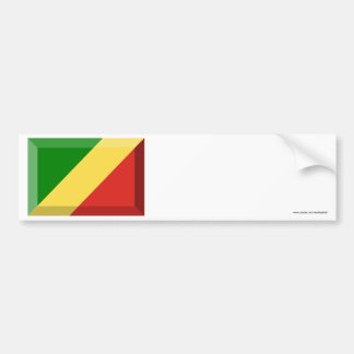 Congo Republic Flag Jewel Bumper Sticker