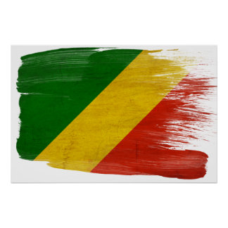 Congo Republic Flag Posters