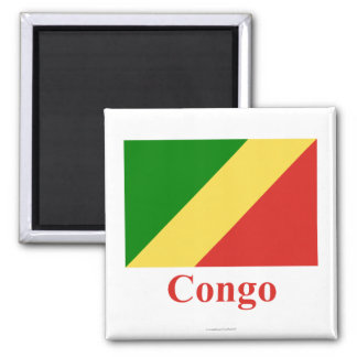 Congo Republic Flag with Name Magnets