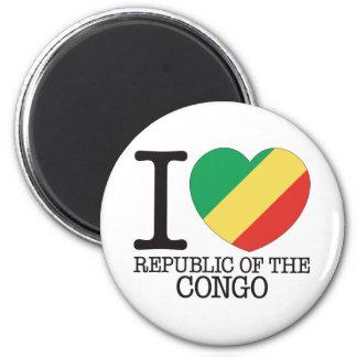 Congo Republic Love v2 Refrigerator Magnet