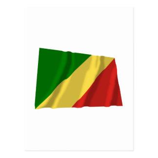 Congo Republic Waving Flag Postcard