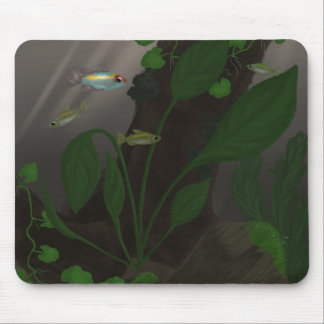 Congo Tetras Among Cover Mouse Pad