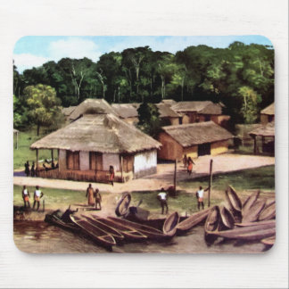 Congo village mouse pad