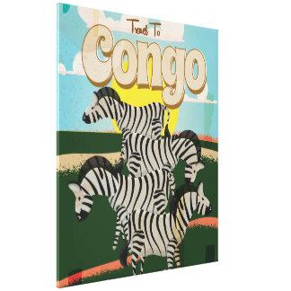 Congo Vintage Travel Poster. Canvas Print