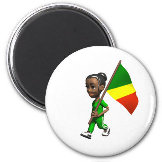Congolese Girl Magnets