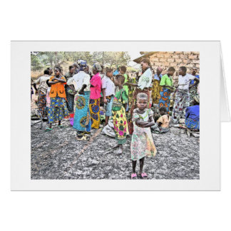 Congolese Girl With Pink Shoes (Photography) Card