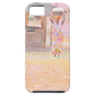 Congolese Woman With Basket On Head(digital photo) iPhone SE/5/5s Case