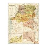 CongoPanoramic MapCongo Impresión En Lienzo
