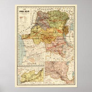 CongoPanoramic MapCongo Poster