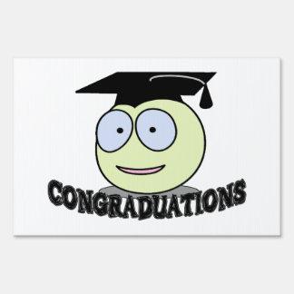 Congraduations Smiley With Grad Cap Sign
