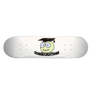 Congraduations Smiley With Grad Cap Skateboard