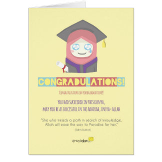 Congradulations! (Female) Card