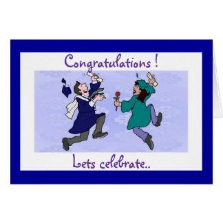 Congrats a los graduados con una tarjeta linda