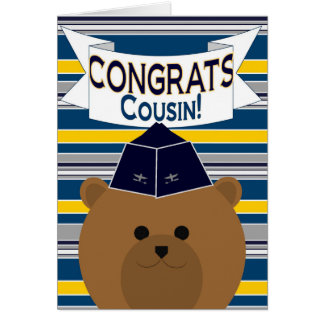 Congrats - Air Force - Cousin Card