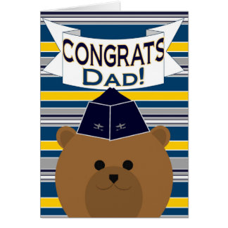 Congrats - Air Force - Dad / Father Card