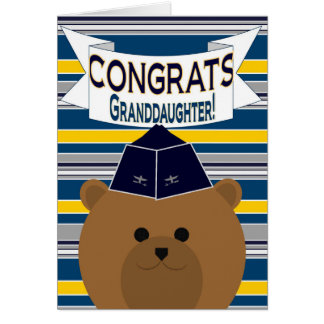 Congrats - Air Force - Granddaughter Card