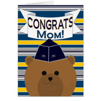 Congrats - Air Force - Mother / Mom Card