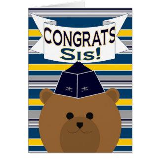 Congrats - Air Force - Sister / Sis Card