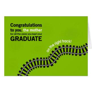 Congrats al Madre-Graduado en buen camino Tarjeta De Felicitación