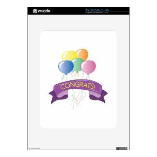 Congrats Balloons iPad Skin