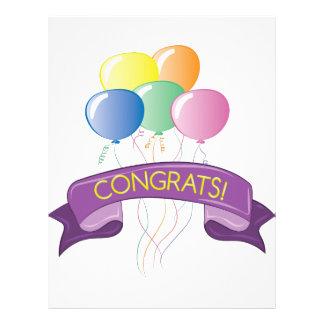 Congrats Balloons Letterhead
