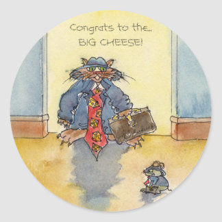 CONGRATS Big Cheese Classic Round Sticker