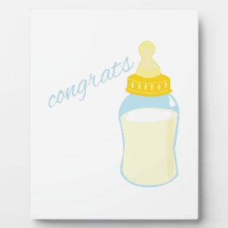 Congrats Bottle Photo Plaques