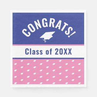 Congrats Class of 20XX Graduation Year Napkins