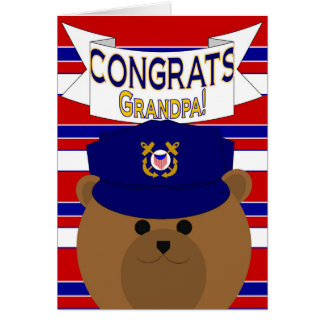 Congrats - Coast Guard - Grandpa / Grandfather Card