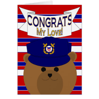 Congrats - Coast Guard - My Love / Boyfriend Card