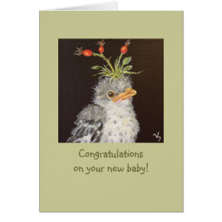 Congrats del bebé con la tarjeta del mockingbird d