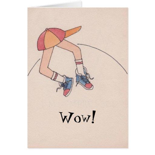 Congrats del wow tarjeta de felicitación