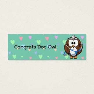 congrats Doc Love Mini Business Card