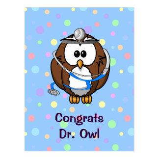 Congrats Dr. Owl Postcard