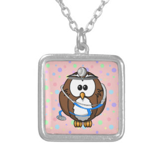 Congrats Dr. Owl Silver Plated Necklace