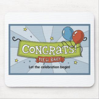 ¡Congrats en el nuevo bebé! Tapetes De Raton