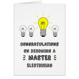 Congrats en hacer un electricista principal tarjeta de felicitación
