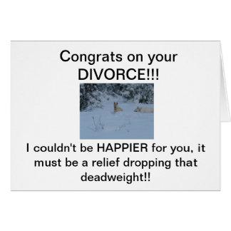 ¡Congrats en su DIVORCIO! Felicitación