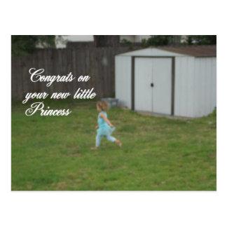 Congrats en tarjeta de la princesa del bebé