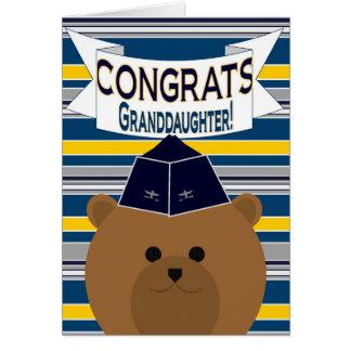 Congrats - fuerza aérea - nieta tarjeta de felicitación