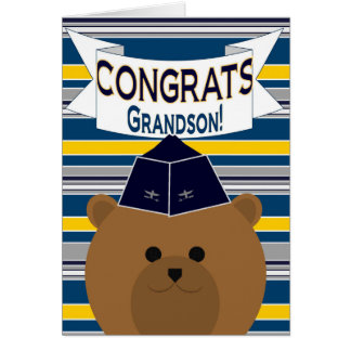 Congrats - fuerza aérea - nieto tarjeta de felicitación
