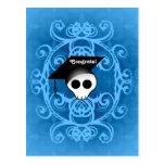 Congrats góticos lindos de la graduación del cráne tarjeta postal