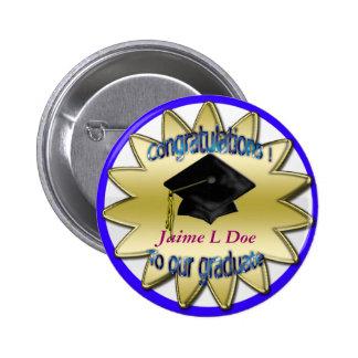 congrats grad commemorative pinback button