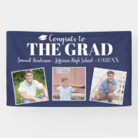Congrats Grad Custom Photos Name Graduation Sign