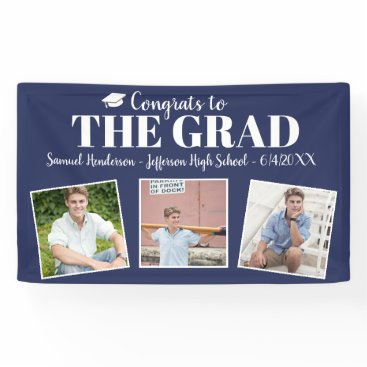 Beach Themed Congrats Grad Custom Photos Name Graduation Sign