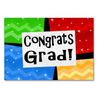 Congrats Grad Festive Multicolor Graduation Party Card
