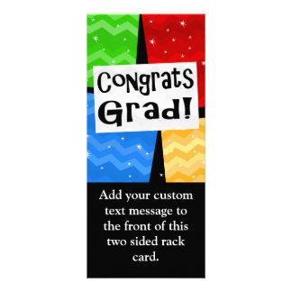 Congrats Grad Festive Multicolor Graduation Party Rack Card